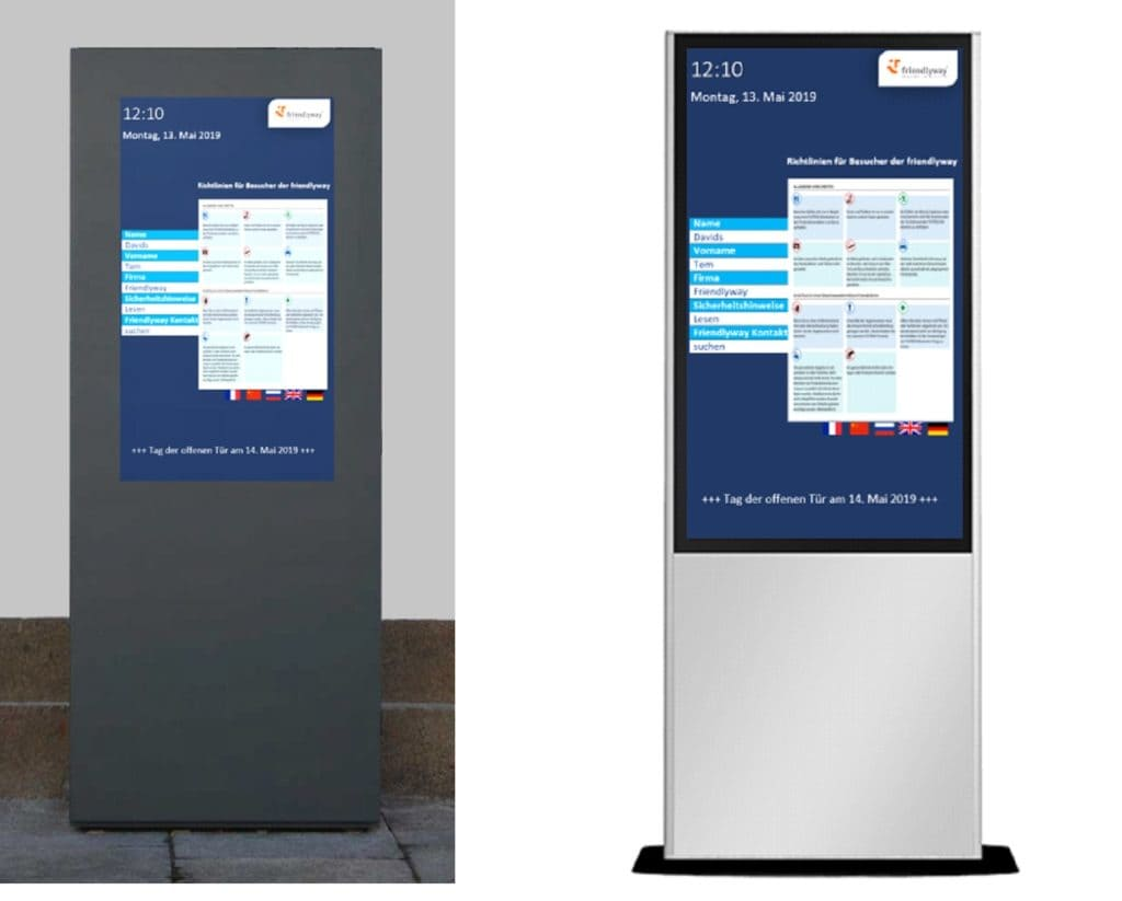 Outdoor and indoor kiosks